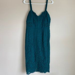 Express Green Lace Dress